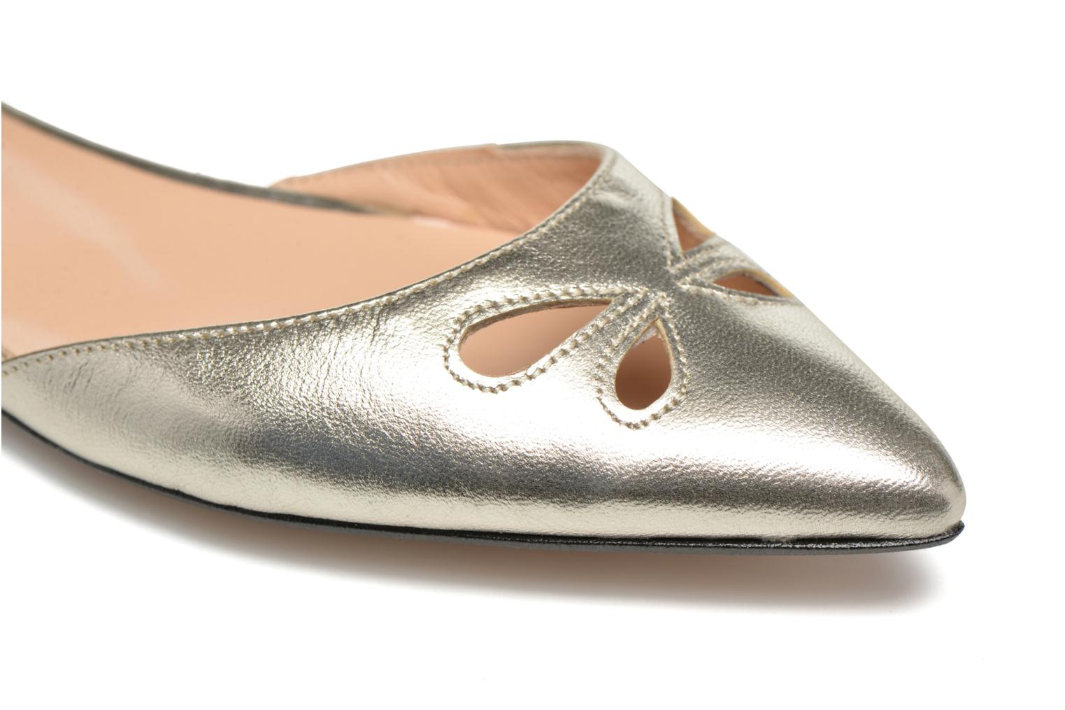 Ballet pumps Made by SARENZA Vegas Lipstick #2 Silver view from the left