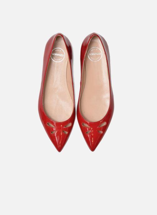 Bailarinas Made by SARENZA Vegas Lipstick #5 Rojo vista del modelo