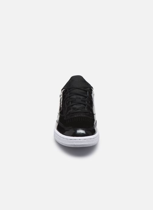 Sneaker Reebok Club C 85 schwarz schuhe getragen