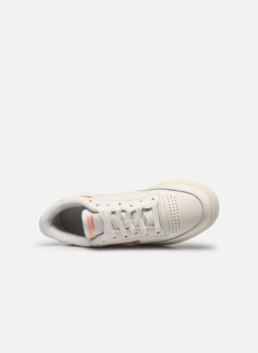 Trainers Reebok Club C 85 White view from the left