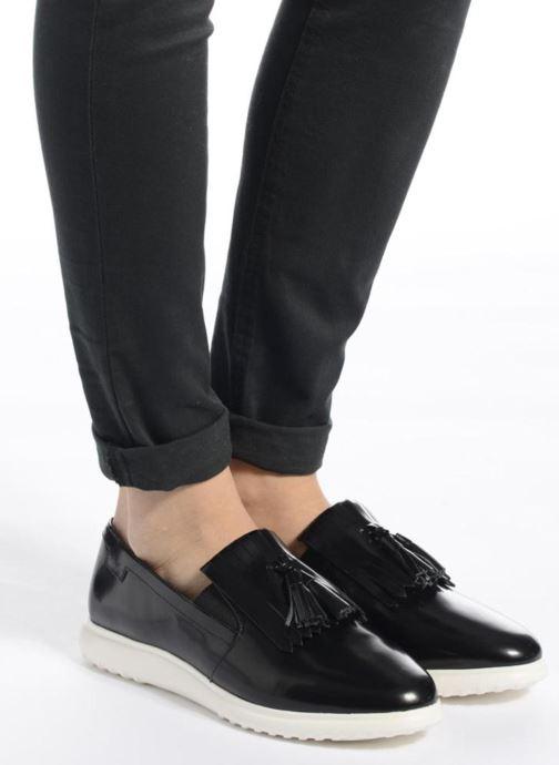Slipper What For Poppy schwarz ansicht von unten / tasche getragen