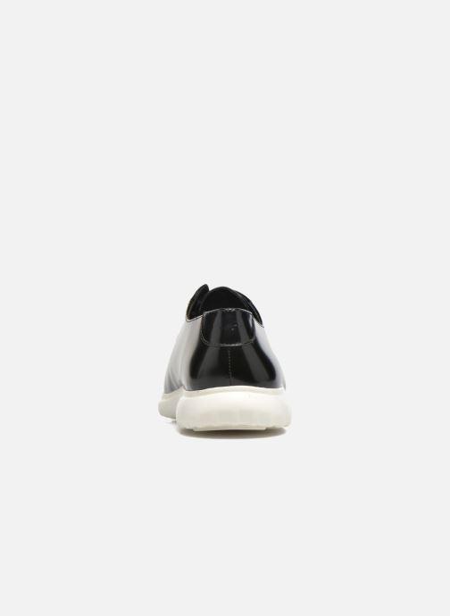 Zapatos con cordones What For Iris Negro vista lateral derecha
