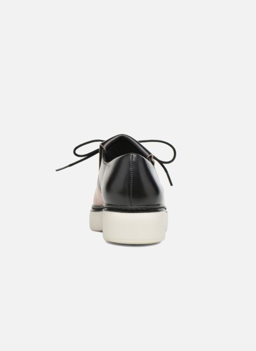 Zapatos con cordones What For Lily Negro vista lateral derecha