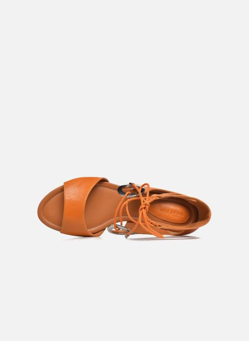 Sandals What For Primrose Orange view from the left