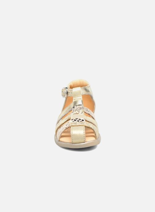 Sandals Babybotte Tikalou Bronze and Gold model view