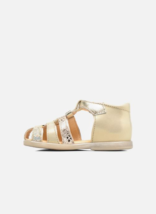 Sandals Babybotte Tikalou Bronze and Gold front view