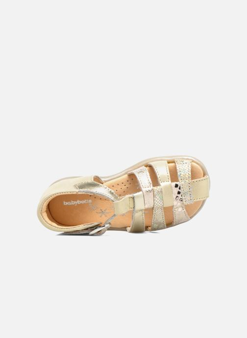 Sandals Babybotte Tikalou Bronze and Gold view from the left