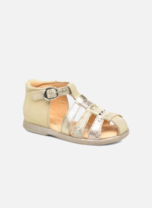 Sandals Babybotte Tikalou Bronze and Gold detailed view/ Pair view