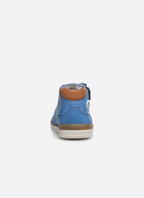 Baskets Babybotte B3 Lacet Bleu vue droite