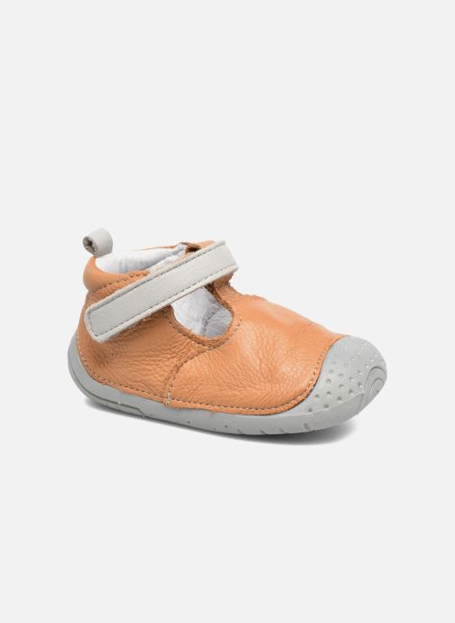 Slippers Babybotte Zik Brown detailed view/ Pair view
