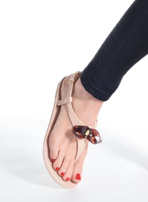 Sandals Lemon Jelly Fold Beige view from underneath / model view