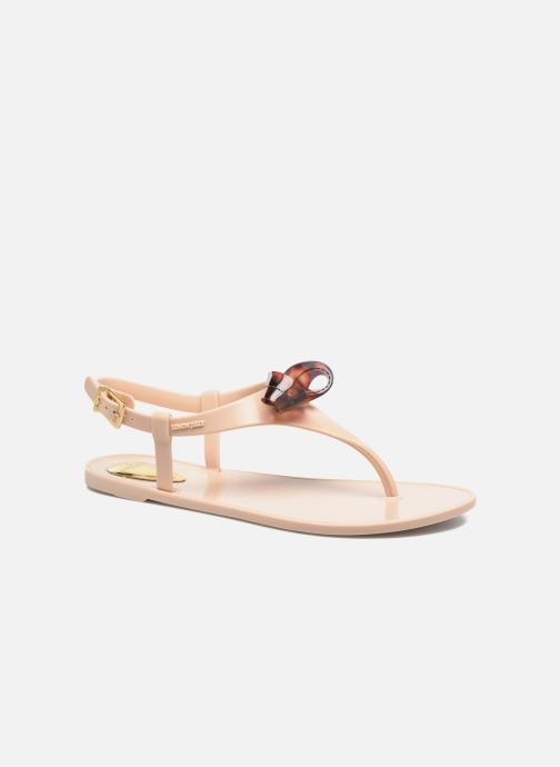 Sandals Lemon Jelly Fold Beige detailed view/ Pair view