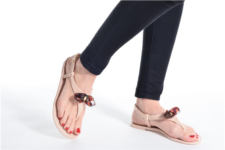 Sandales et nu-pieds Lemon Jelly Fold Beige vue bas / vue portée sac