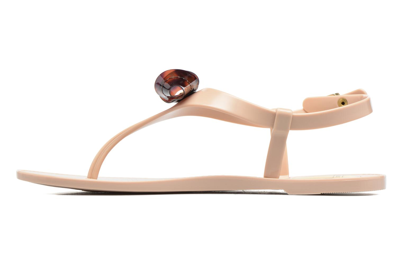 Sandalias Lemon Jelly Fold Beige vista de frente