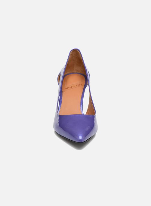 Escarpins What For Cosmos Bleu vue portées chaussures