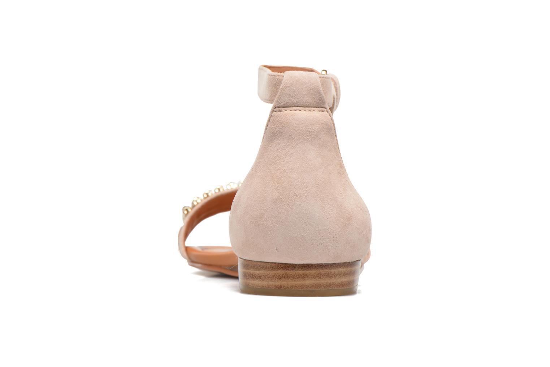 Sandales et nu-pieds What For Venus Beige vue droite