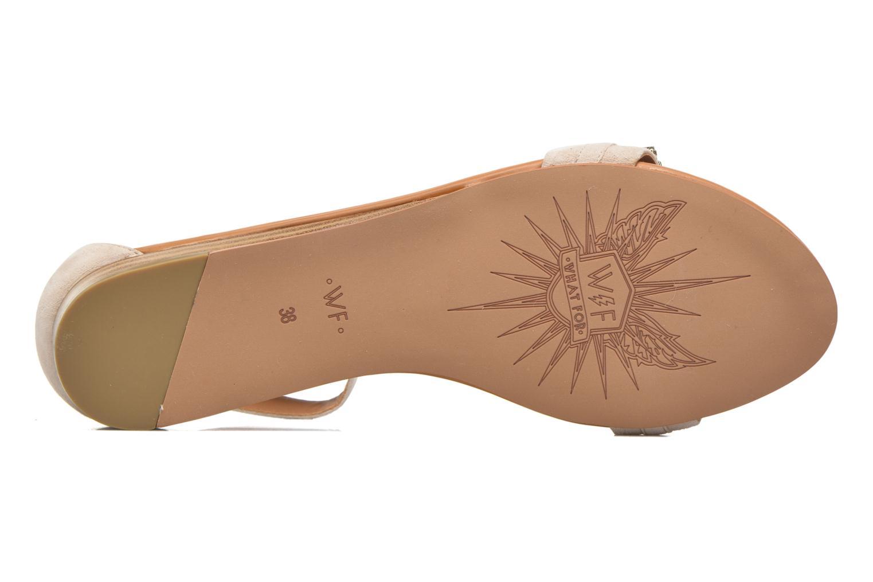 Sandales et nu-pieds What For Venus Beige vue haut
