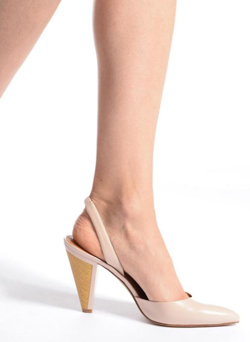 High heels What For Interstellar Beige view from underneath / model view