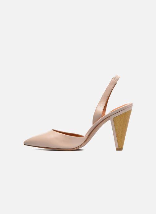 High heels What For Interstellar Beige front view