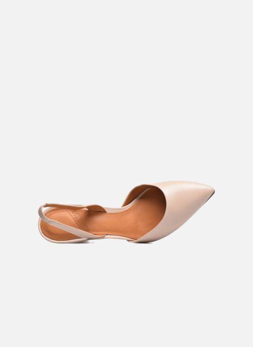 Zapatos de tacón What For Interstellar Beige vista lateral izquierda