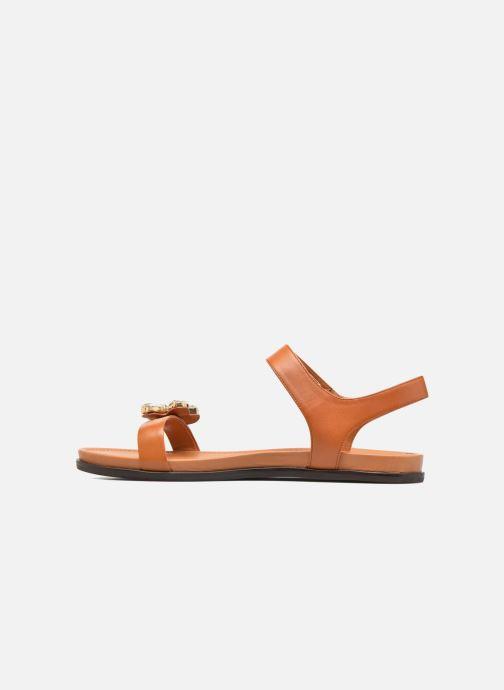 Sandali e scarpe aperte What For Leonis Marrone immagine frontale