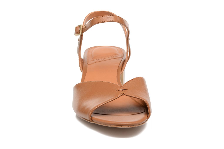 Sandales et nu-pieds What For Mercury Marron vue portées chaussures