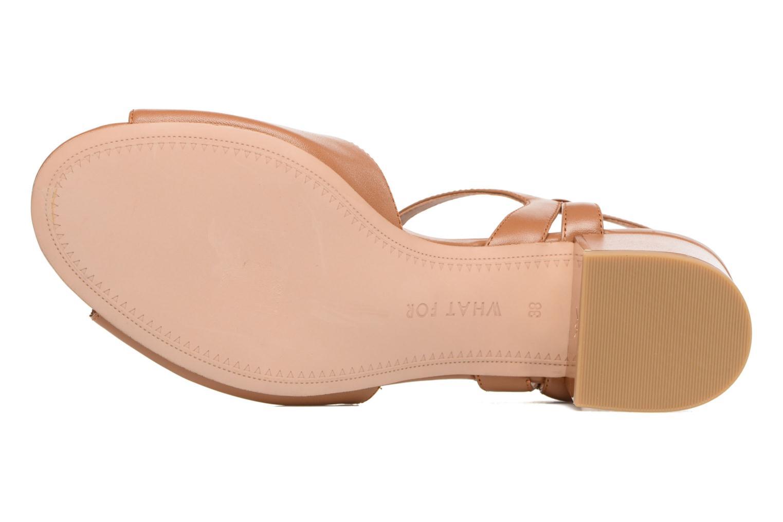 Sandales et nu-pieds What For Mercury Marron vue haut