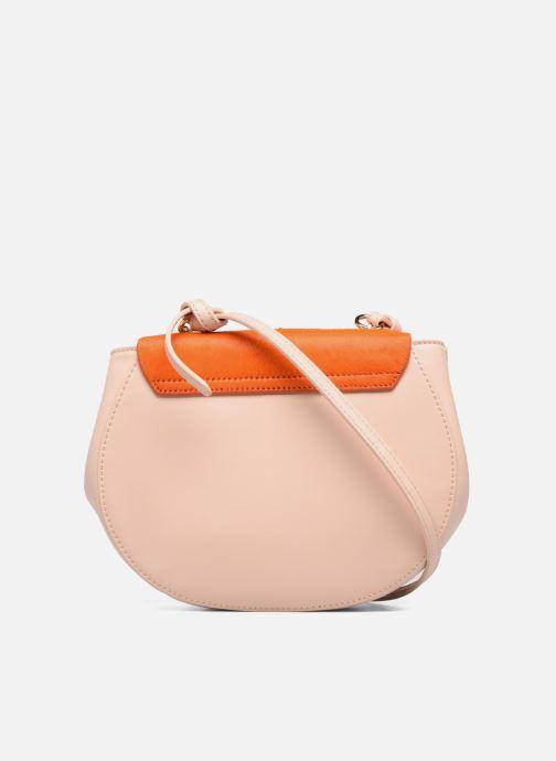 Handtassen Guess MAELLE Leather Crossbody flap Roze voorkant