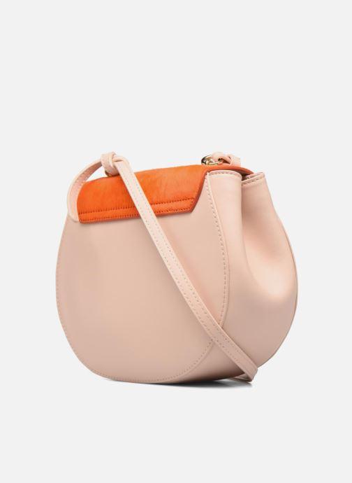 Handtassen Guess MAELLE Leather Crossbody flap Roze rechts