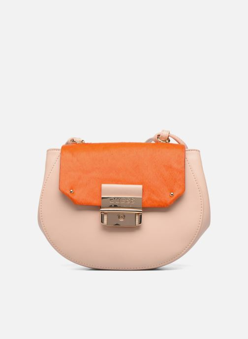 Bolsos de mano Guess MAELLE Leather Crossbody flap Rosa vista de detalle / par