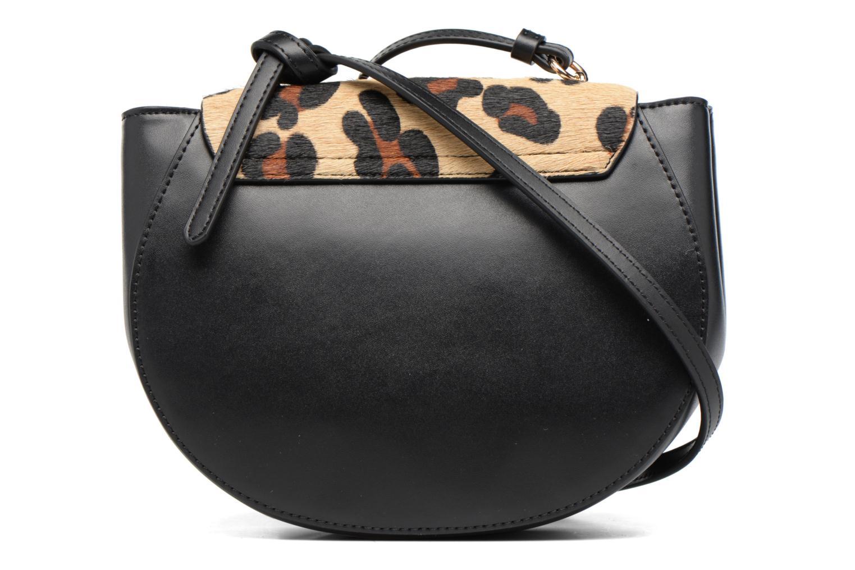 Handtassen Guess MAELLE Leather Crossbody flap Zwart voorkant