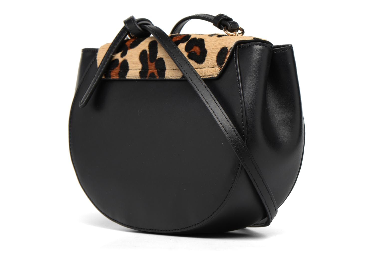 Handtassen Guess MAELLE Leather Crossbody flap Zwart rechts