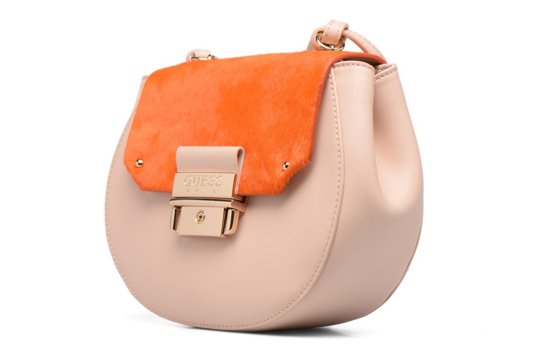 Handtassen Guess MAELLE Leather Crossbody flap Roze model