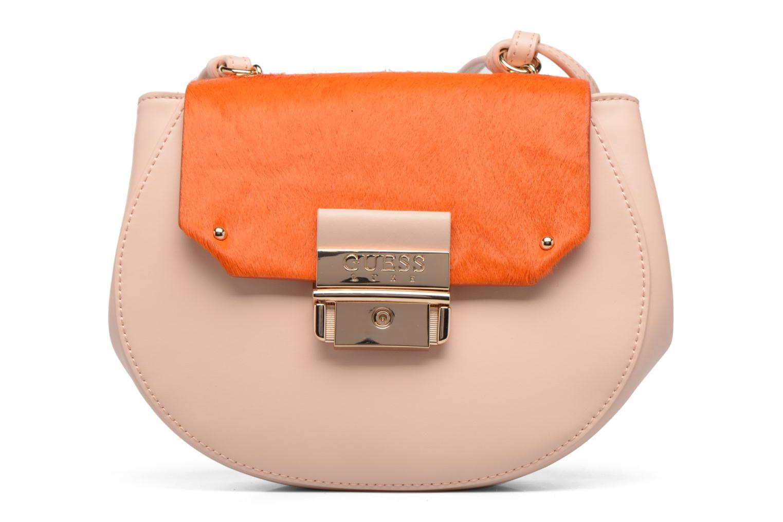 Handtassen Guess MAELLE Leather Crossbody flap Roze detail