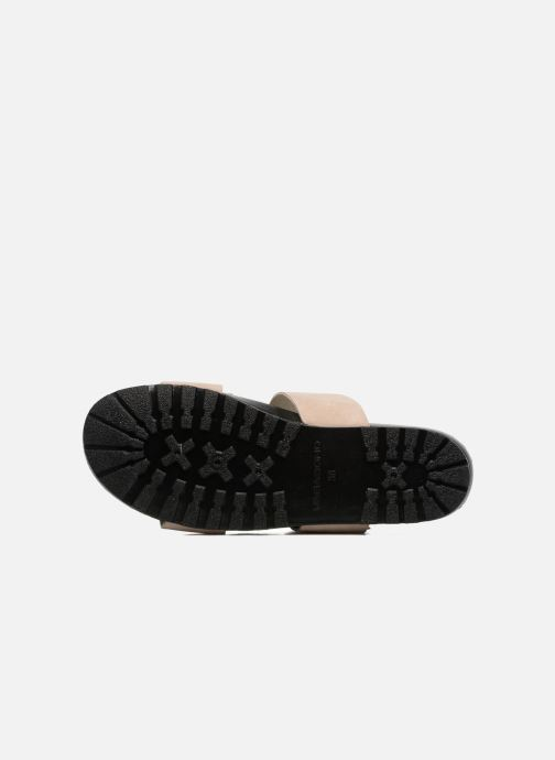 Zuecos Vagabond Shoemakers Erie 4332-040 Beige vista de arriba