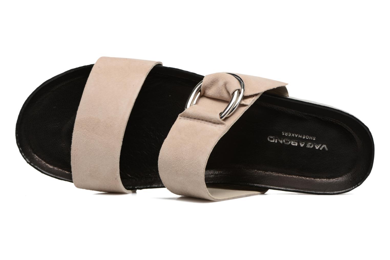 Zoccoli Vagabond Shoemakers Erie 4332-040 Beige immagine sinistra