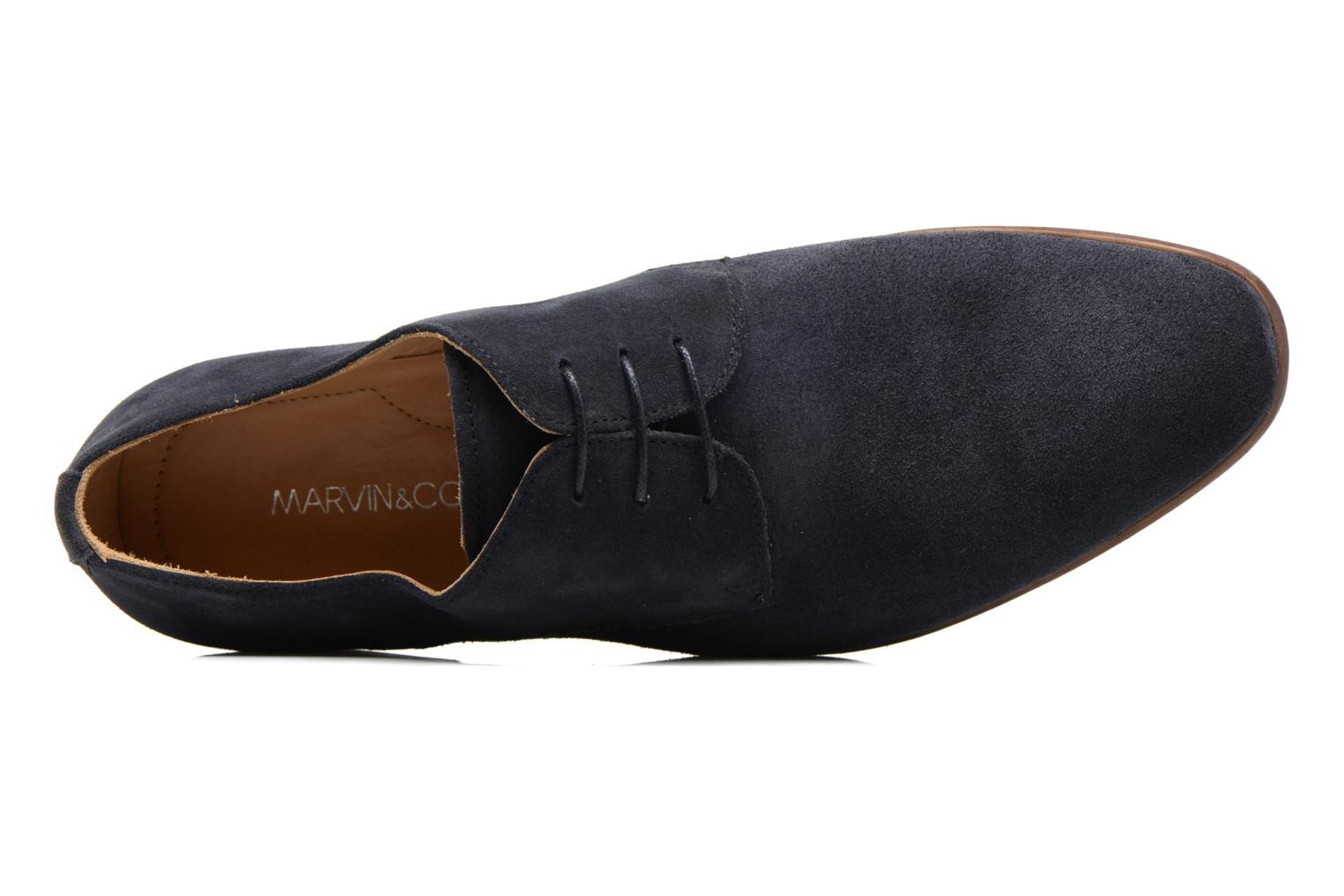 Veterschoenen Marvin&Co Nordrich Blauw links