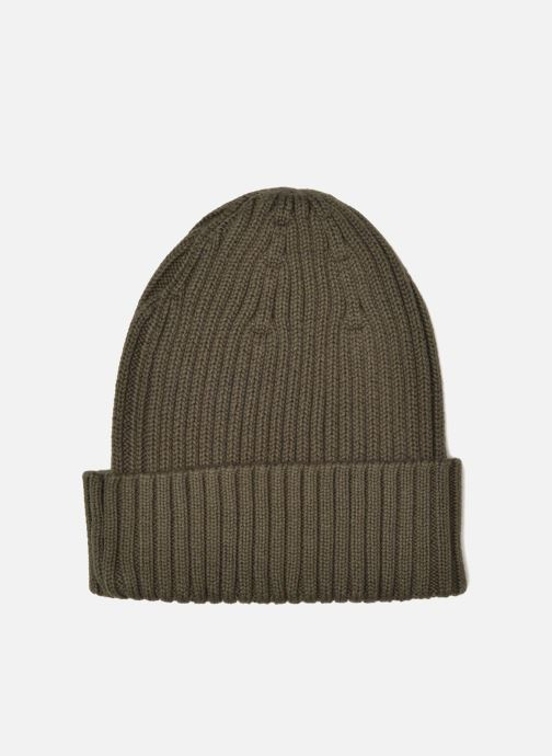 Bonnets Fred Perry COTTON RIBBED BEANIE Gris vue portées chaussures