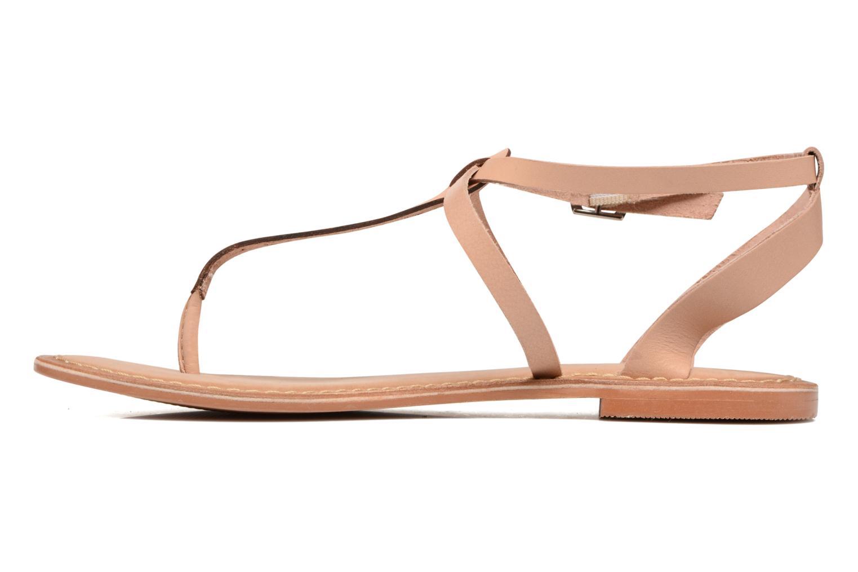 Sandalen Vero Moda Anneli Leather Sandal Beige voorkant