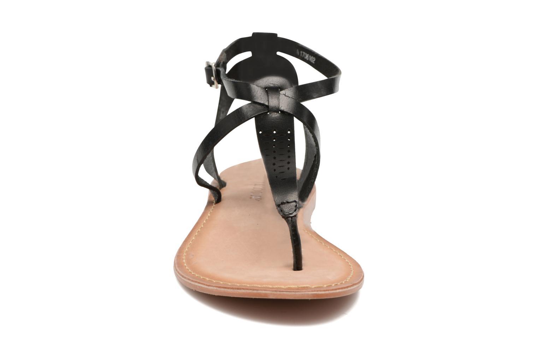 Sandales et nu-pieds Vero Moda Anneli Leather Sandal Noir vue portées chaussures