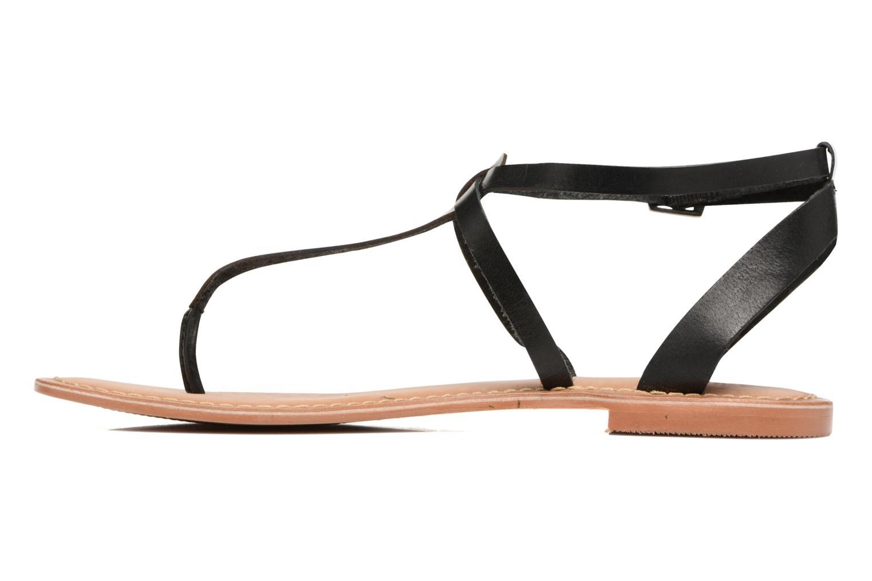 Sandales et nu-pieds Vero Moda Anneli Leather Sandal Noir vue face