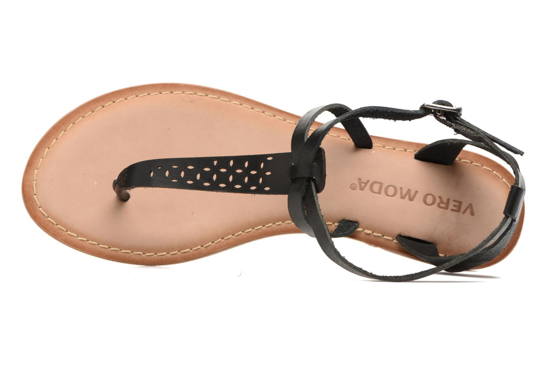 Sandales et nu-pieds Vero Moda Anneli Leather Sandal Noir vue gauche