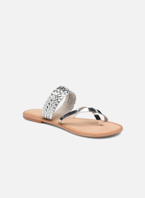 Zuecos Vero Moda Malva Leather Sandal Plateado vista de detalle / par