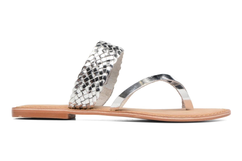Wedges Vero Moda Malva Leather Sandal Zilver achterkant