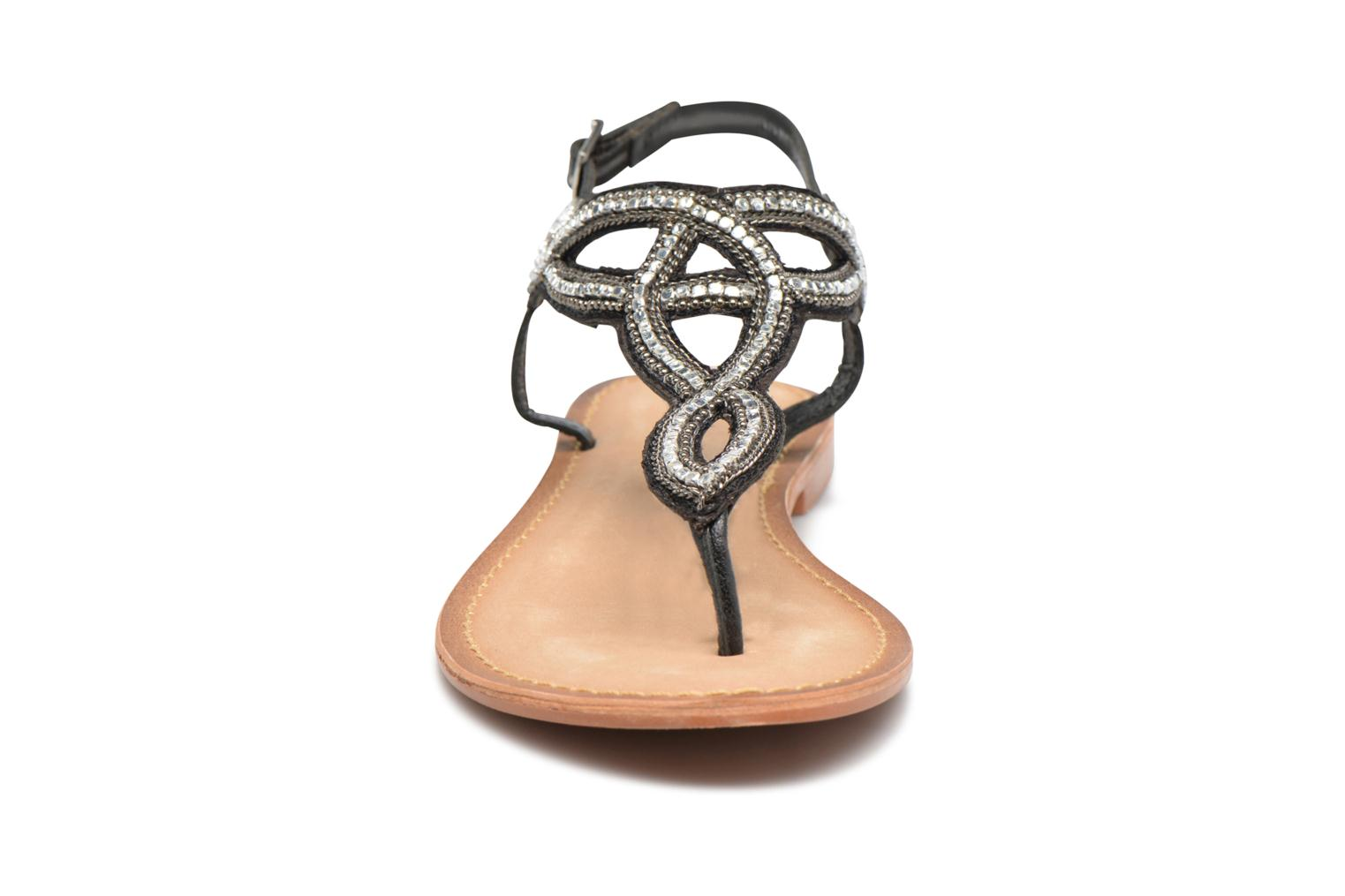 Sandalen Vero Moda Sis Leather sandal Zwart model