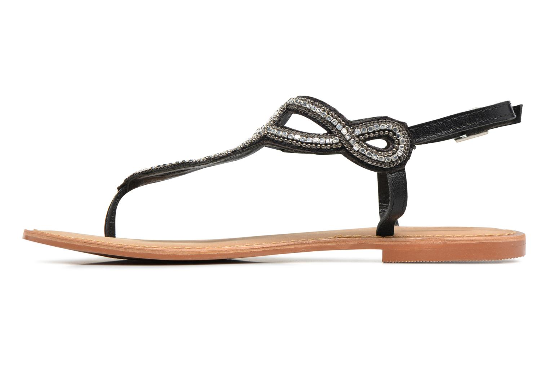 Sandales et nu-pieds Vero Moda Sis Leather sandal Noir vue face
