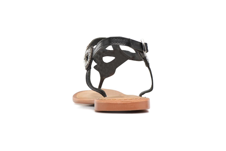 Sandales et nu-pieds Vero Moda Sis Leather sandal Noir vue droite