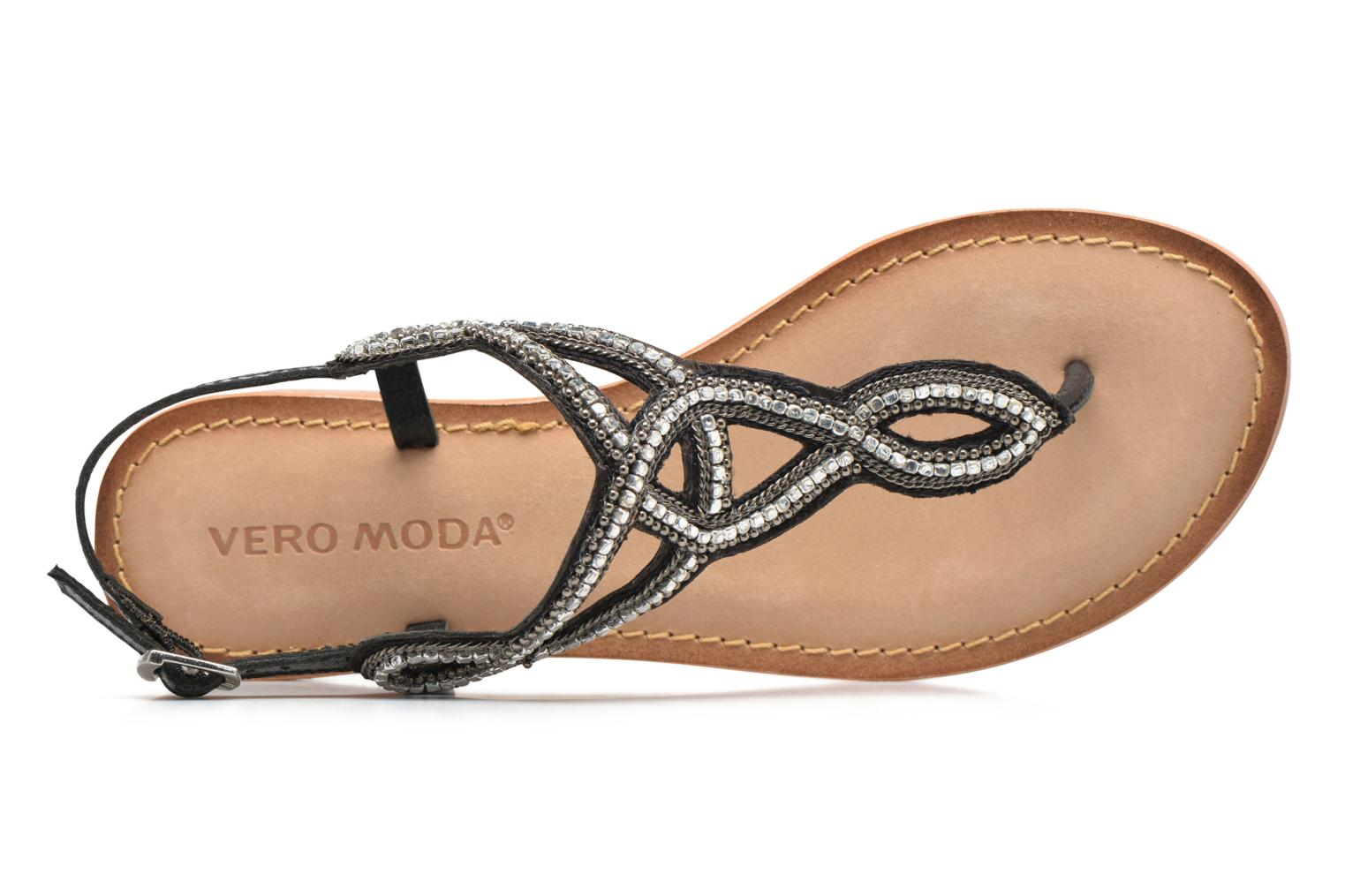 Sandalen Vero Moda Sis Leather sandal Zwart links