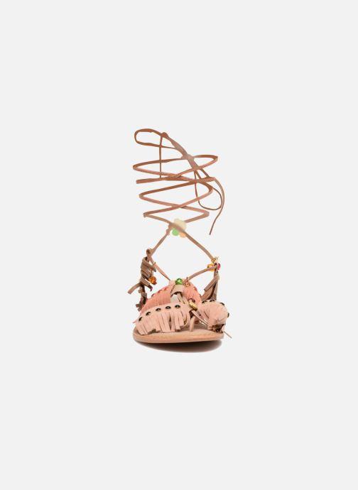 Sandales et nu-pieds Vero Moda Sikka leather sandal Marron vue portées chaussures