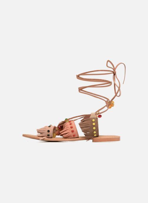 Sandales et nu-pieds Vero Moda Sikka leather sandal Marron vue face